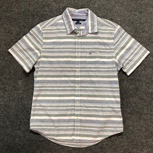 Tommy Hilfiger Gray Striped Button Down